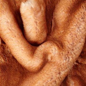 Luxus Webpelz Pelzimitat Stoff superweich Crème mit aprikosenfarbenen tipprint – 3105 Apricot
