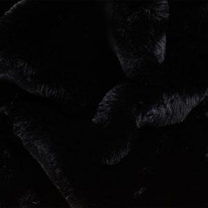 Luxus Webpelz Pelzimitat Stoff superweich Schwarz – 3105 Black/Black