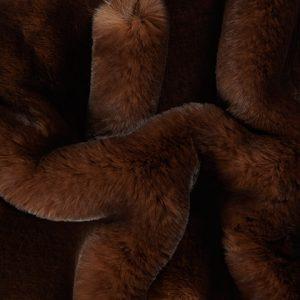 Luxus Webpelz Pelzimitat Stoff superweich Braun mit dunkelbraunen tipprint – 3105 Brown/Dk.Brown