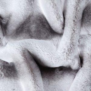 Günstig kaufen Webpelzstoff im Chinchillastil,Grau mit silbernen tipprint – 3106 Silver Chinchilla