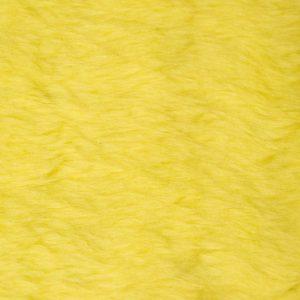 Webpelz Stoff als Meterware Preiswert kurzhaarige Pelzimitat in der Farbe Flavine Gelb – W1/60-Flavine