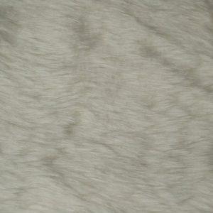 Webpelz Stoff als Meterware Preiswert kurzhaarige Pelzimitat in der Farbe Elfenbein – W1/60-Ivory