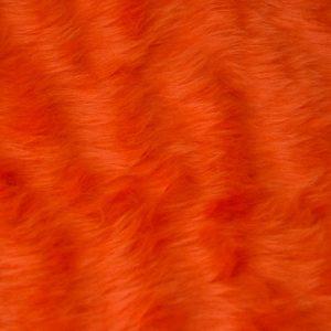 Webpelz Stoff als Meterware Preiswert kurzhaarige Pelzimitat in der Farbe Tangerine Orange – W1/60-Tangerine