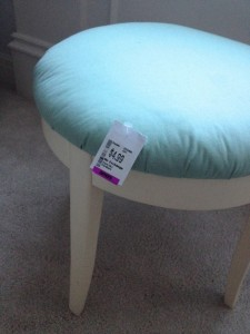 faux fur stool example