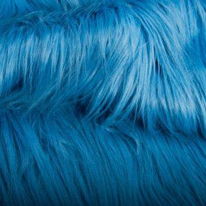 Luxus Webpelz Kunstpelz Stoff meterware mit langen Haaren im Yeti-Stil, Blau – 1568 Matiss Blue
