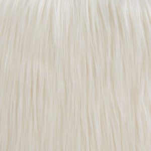 Luxus Webpelz Kunstpelz Stoff meterware mit langen Haaren im Yeti-Stil, Creme – 1568 Cream
