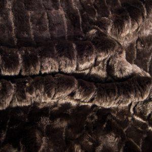 Luxus Webpelz Kunstpelz-Faltenstoff, superweich, braunfarben – 1212 brown
