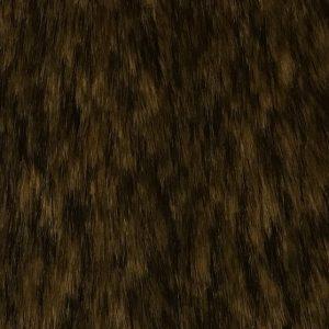 Luxus Webpelz Langhaarig Webpelz Fuchsimitation am laufenden Meter, beige und braunfarben – 1452 Beige Brown