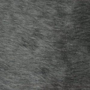 Webpelz Stoff als Meterware Preiswert kurzhaarige Pelzimitat in der Farbe dunkelgrau – W1/60-Dk-Grey