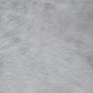 Webpelz Stoff als Meterware Preiswert kurzhaarige Pelzimitat in der ecru weiß – W1/60-Ecru