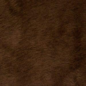 Webpelz Stoff als Meterware Preiswert kurzhaarige Pelzimitat in der Farbe malzbraun – W1/60-Malt