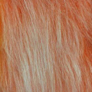 Webpelz Stoff als Meterware Preiswert orange frost langhaariges Kunstfell – AC356-Burned Orange Frost