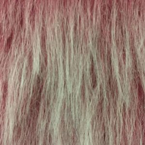 Webpelz Stoff als Meterware Preiswert antiker Rosenfrost langhaariges Kunstfell – AC356-Antique-Rose-Frost