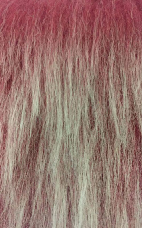 Webpelz Stoff als Meterware Preiswert antiker rosenfrost langhaariges Kunstfell – AC356-A. Rose Frost