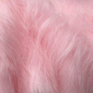 Webpelz Stoff als Meterware Preiswert rosa langhaariges Kunstfell – AC356-B.pink