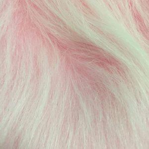Webpelz Stoff als Meterware Preiswert frost rosa langhaariges Kunstfell – AC356-Blossom Frost