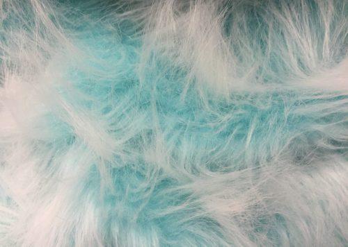 Preiswert Webpelz Preiswert frost Pfauenblau langhaariges Kunstfell – AC356-Peacock Frost