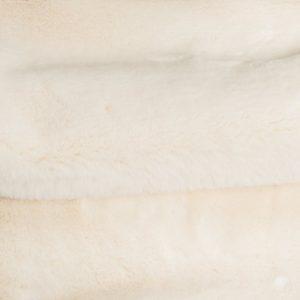 Günstig kaufen Pelzimitat Stoff superweich Creme, Kaninchenfell-Imitat – Saluki 2R333 Cream
