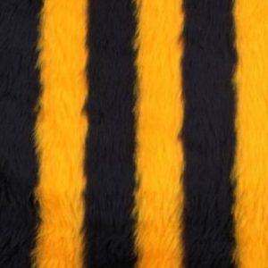 Webpelz Stoff als Meterware Biene Kunstpelzstoff am laufenden Meter für Verkleidung, Kostüme, Cosplay – R2/60/2 920/1 1201/1