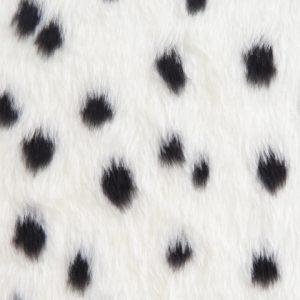 Webpelz Stoff als Meterware Dalmatier Kunstpelzstoff am laufenden Meter für Verkleidung, Kostüme, Cosplay – R2/60/2 101/1 1/1