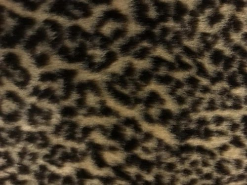 Preiswert Webpelz Leopard Kunstpelzstoff am laufenden Meter für Verkleidung, Kostüme, Cosplay – R2/60 1386/1