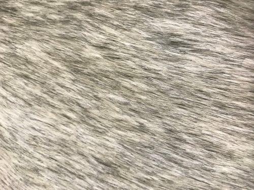 Preiswert Webpelz Kunstpelzstoff weiß-grau meliert super Preis-Leistungs-Verhältnis – YF 286/1 White/Grey
