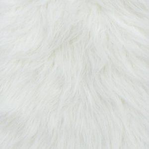 Webpelz Stoff als Meterware Creme weißer langhaariger Pelzimitat-Stoff – YF 306/1 Natural