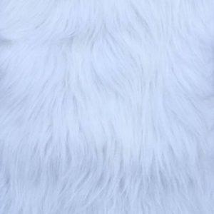 Webpelz Stoff als Meterware Weißer langhaariger Pelzimitat-Stoff – YF 306/1White