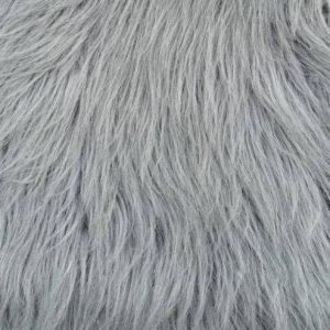 Preiswert Webpelz Grauer langhaariger Pelzimitat-Stoff – YF 306/1 Grau
