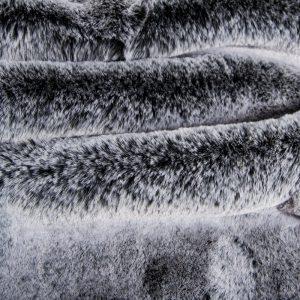 Luxus Webpelz Super weicher Kunstpelzstoff imitiert Kaninchen, silberschwarz – 3091 Black silver