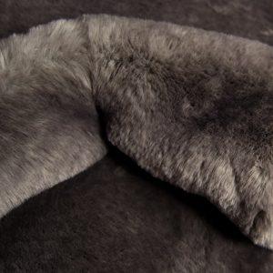 Luxus Webpelz Pelzimitat Stoff superweich dunkelgrau – 3105 Dark grey