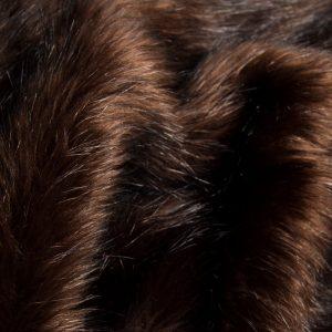 Luxus Webpelz Langhaarig Webpelz Fuchsimitation am laufenden Meter, Braun – 7552 Brown Black
