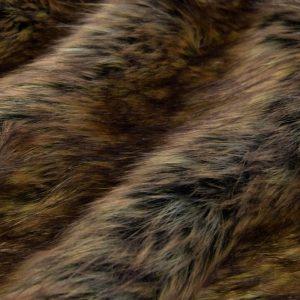 Luxus Webpelz Langhaarig Webpelz Fuchsimitation am laufenden Meter, schwarz und bronzefarben – 1452 Black Bronze