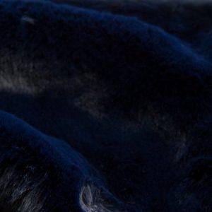 Luxus Webpelz Super weicher Kunstpelzstoff imitiert Kaninchen, dunkelblau – 3091 Dark Blue