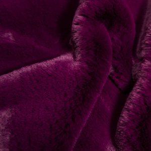 Luxus Webpelz Super weicher Kunstpelzstoff imitiert Kaninchen, lila – 3091 Violet
