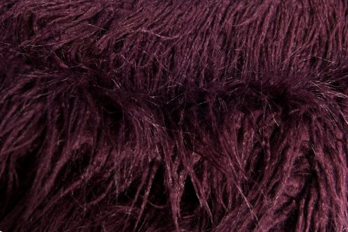 Günstig kaufen Langhaariges Webpelzstoff am laufmeter, super weich, lila Pflaumenfarbe – 1424 Plum