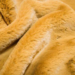 Günstig kaufen Pelzimitat Stoff superweich senfgelbe, Kaninchenfell-Imitat – Saluki 2R333 Autumn Gold