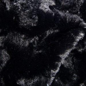 Günstig kaufen Schwarz Webpelzstoff am laufmeter, super weich – 2R263 Black