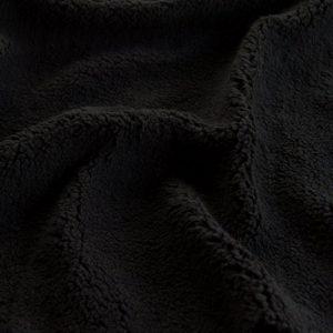 Luxus Webpelz Schwarz Sherpa Fleece Webpelzstoff am laufmeter, super weich – 2R307 black
