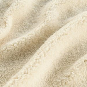 Luxus Webpelz Creme Sherpa Fleece Webpelzstoff am laufmeter, super weich – 2R307 cream