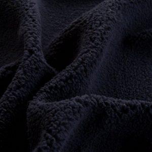 Luxus Webpelz Marineblau Sherpa Fleece Webpelzstoff am laufmeter, super weich – 2R307 navy
