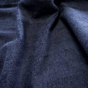 Luxus Webpelz Marineblau Teddy/Schafe Webpelzstoff am laufmeter, super weich – 2R349 navy