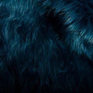 Luxus Webpelz Superweicher blau gefärbt Imitat-Pelzstoff – 7554 Blue