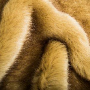 Luxus Webpelz Superweicher camel braun gefärbt Imitat-Pelzstoff – 7554 Camel