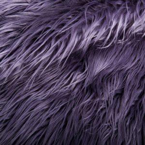 Luxus Webpelz Langhaarig Webpelz am laufenden Meter Mongolisches Lamm Imitation, Lila – 8104 Purple