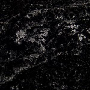 Luxus Webpelz Kurzhaariger und Gelockter Schwarzer Webpelzstoff am laufmeter, super weich – 2R355 Black