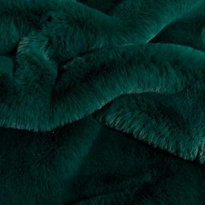 Luxus Webpelz Super weicher Kunstpelzstoff imitiert Kaninchen, dunkelgrün – 3091 Alpine Green