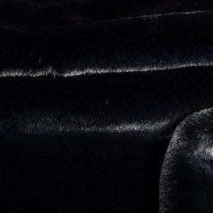 Luxus Webpelz Super weicher Kunstpelzstoff imitiert Kaninchen, schwarz – 3091 Black