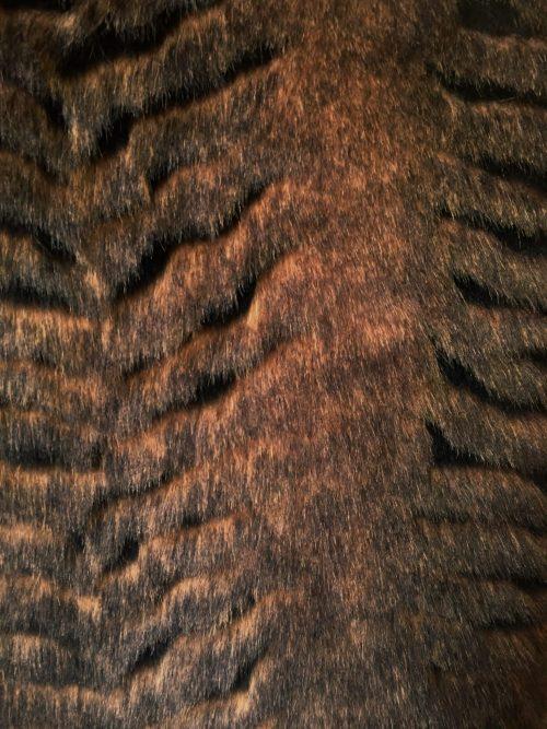 Günstig kaufen Beige/Braun Webpelzstoff am laufmeter, super weich, texturiert – 1427 Beige/Brown