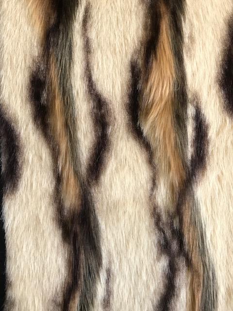 Luxus Webpelz Kunstpelzstoff im Antilopen-Stil, beige Farbe – 7585 Beige